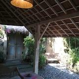 Rekreačná chata typu Superior, 2 spálne, výhľad na záhradu - Balkón
