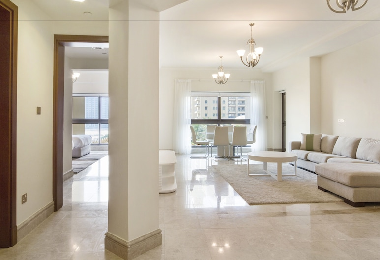 Bespoke Residences - South Residence, Dubai, Deluxe-Apartment, 2Schlafzimmer, Stadtblick (FS319), Wohnbereich