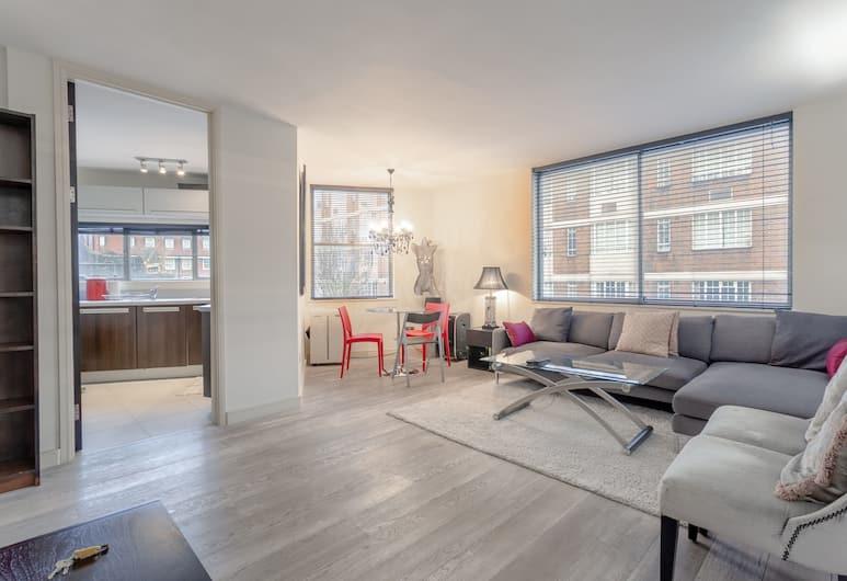 Incredible, Modern Apartment in South Kensington, London, Wohnzimmer