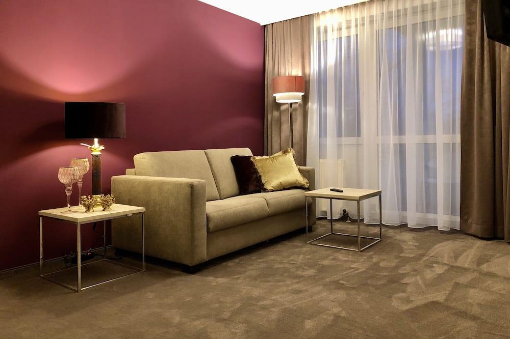 Deluxe-Suite, 1King-Bett und Schlafsofa, Nichtraucher - Wohnzimmer