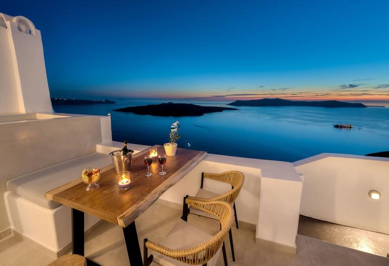 Iriana Suites, Santorin, Suite Exécutive (With Heated Mini Pool), Balcon