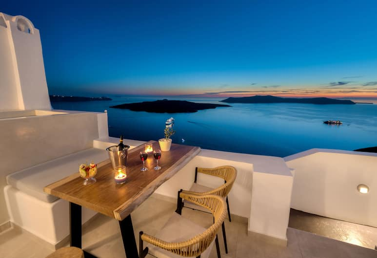 Iriana Suites, Santorini, Executive Suite (With Heated Mini Pool), Balcony