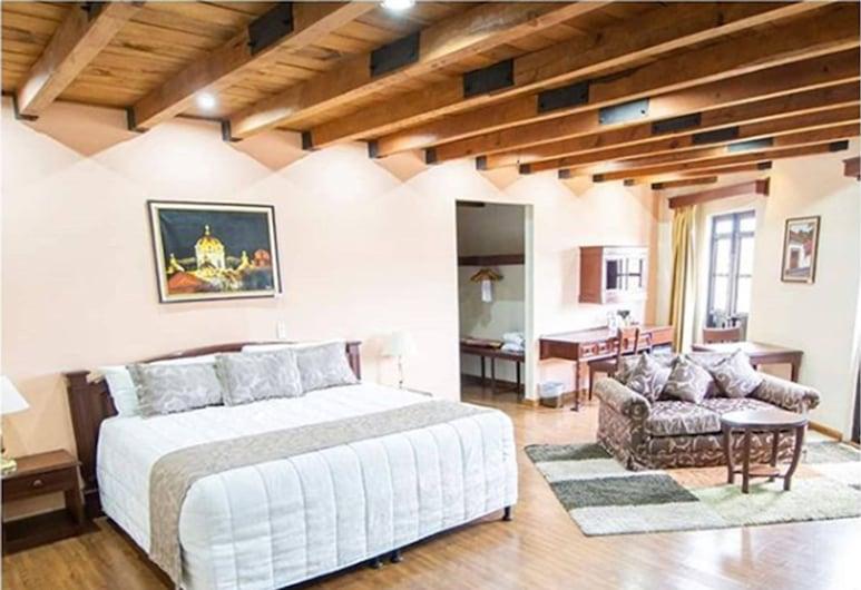 Hotel Pensión Bonifaz, Quetzaltenango, Suite presidencial, 1 cama King size, bañera de hidromasaje, Habitación