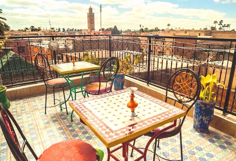 Riad Jennah Rouge - Hostel, Marrakech, Terrasse/Patio