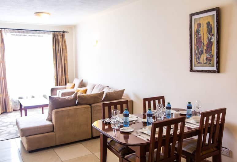 西區頂級公寓酒店, 奈洛比, 公寓, 1 間臥室, 城市景, 客廳