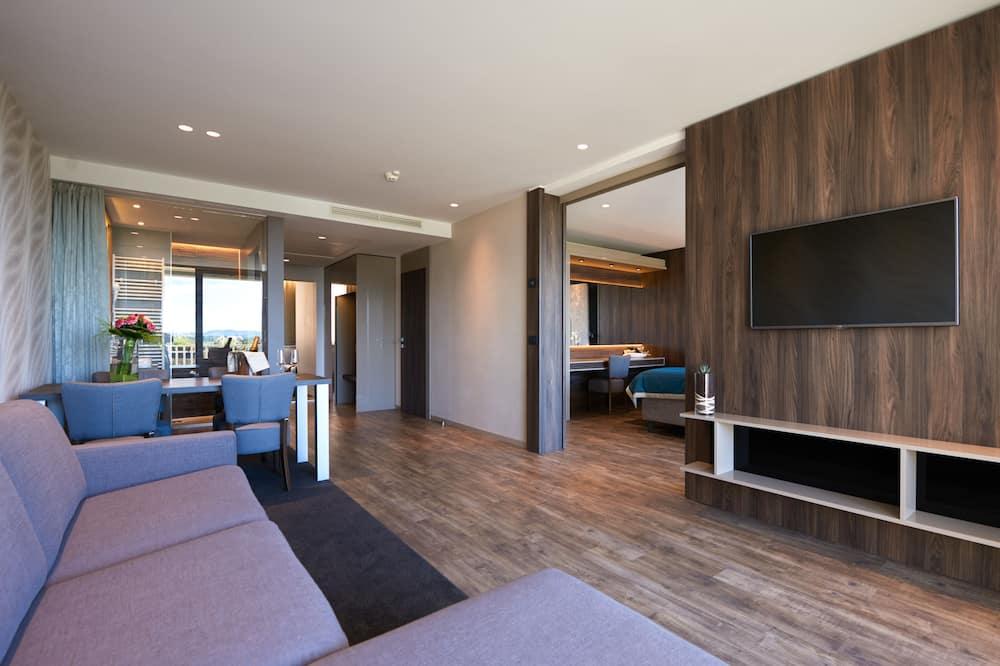Suite, 2 habitaciones, balcón, vistas al parque - Zona de estar