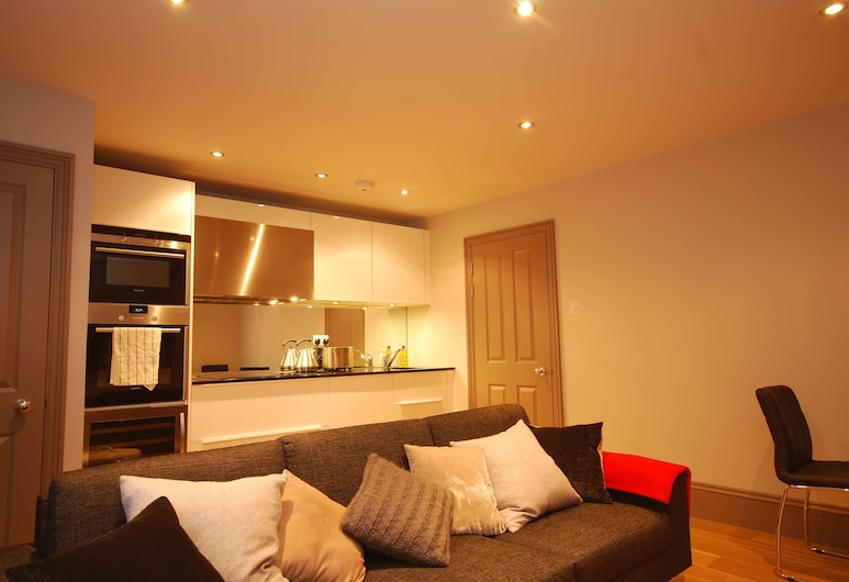 Valet Apartments Fitzrovia, London, Deluxe külaliskorter, 1 kahevoodi, asukoht siseõues / siseõuepoolne, Lõõgastumisala