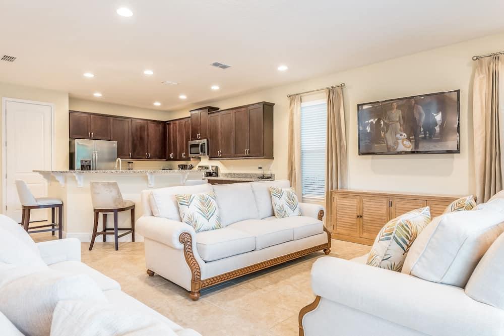 Hus - 6 soveværelser - privat pool - udsigt til golfbane - Opholdsområde