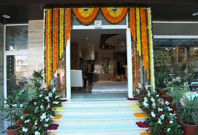 Hotel Aangan, Jaipur, Entrada do hotel