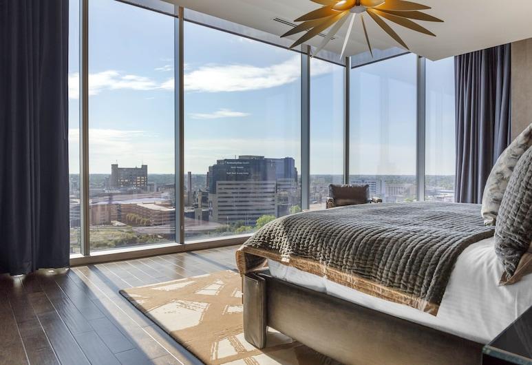 Omni Louisville Hotel, לואיסוויל, סוויטה, מיטת קינג, פינתי (Stately King Corner Suite), חדר אורחים