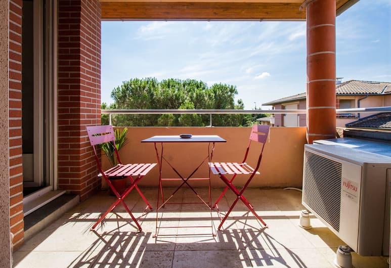 Studio ToulouseCityStay Basso Cambo, Toulouse, Premium Studio, Balcony, Teres/Laman Dalam