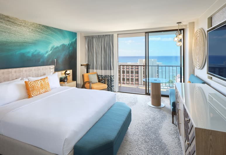 Waikiki Beachcomber by Outrigger, Honolulu, Deluxe Room, 1 King Bed, Ocean View, Guest Room