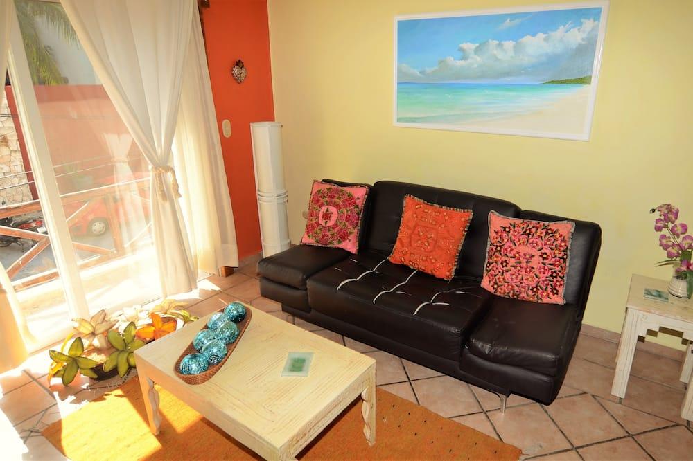 Appartement Standard, 2 chambres, fumeurs, vue ville - Salle de séjour