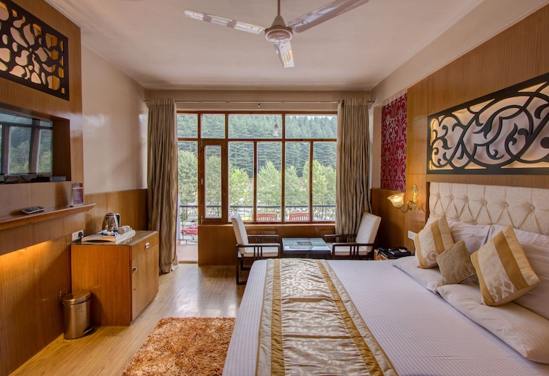 Hotel Natraj Pure Veg, Manali, Honeymoon Double Room, 1 King Bed, Balcony, River View, Guest Room