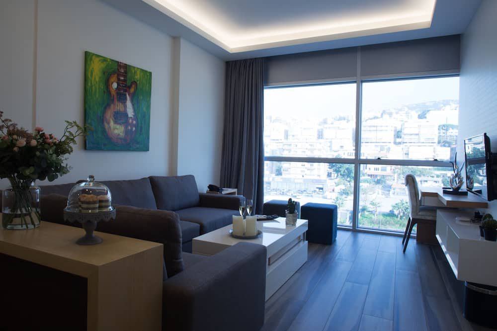 Apartamento Standard, 1 Quarto, Vista Cidade - Área de Estar