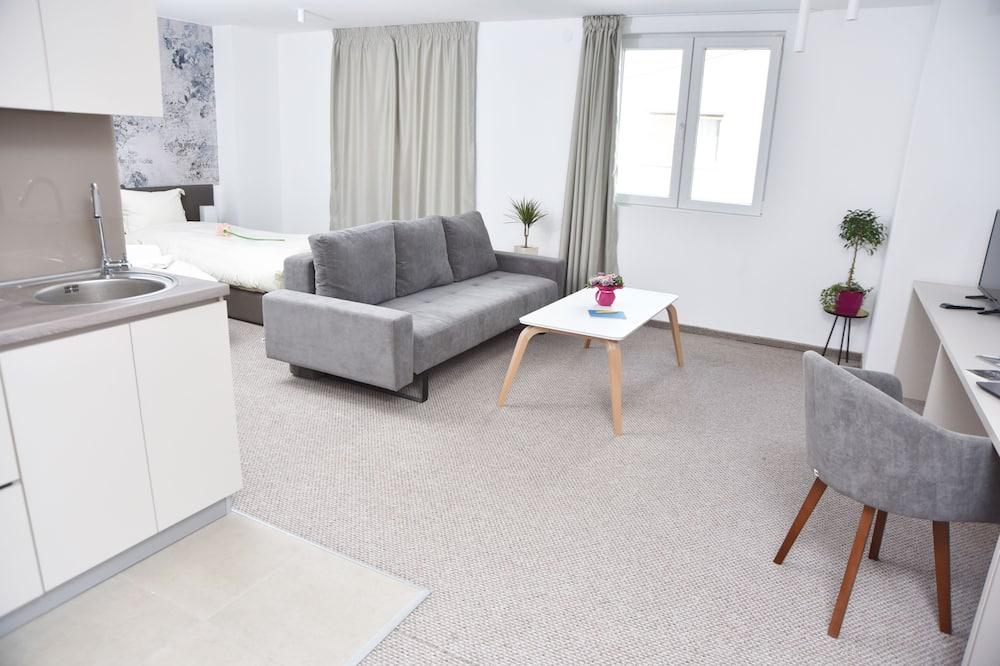 Departamento Deluxe, 1 habitación, cocina, vista a la montaña - Sala de estar