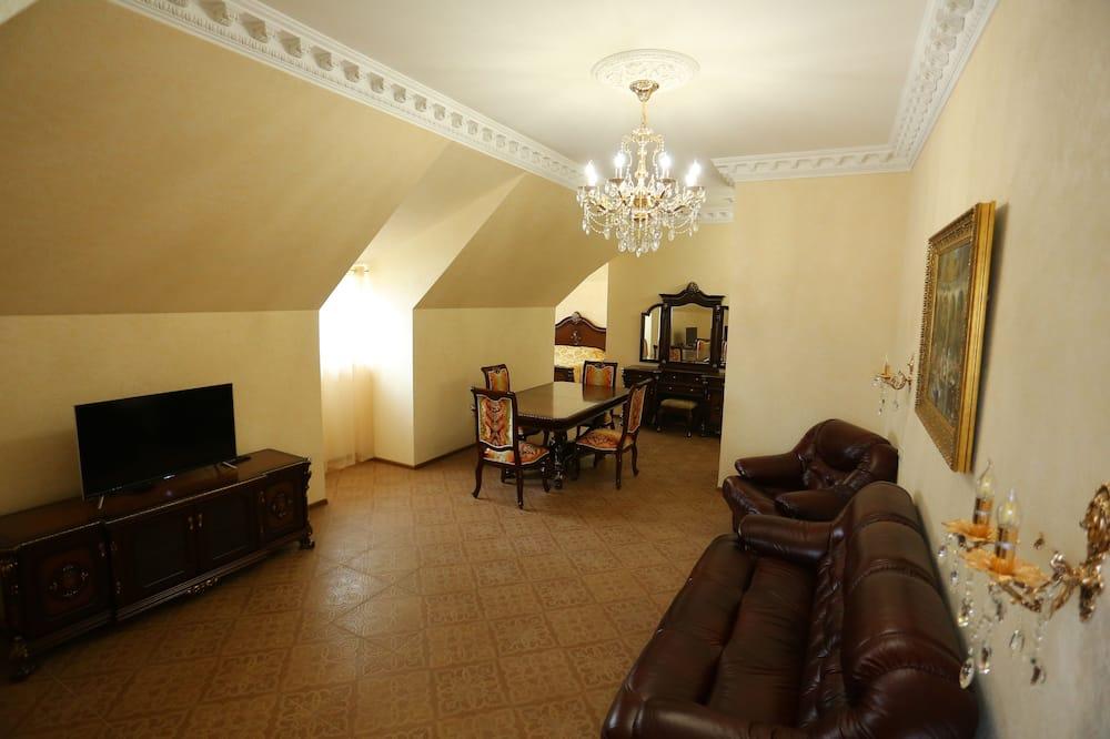 Superior-suite - udsigt til gårdsplads - Stue