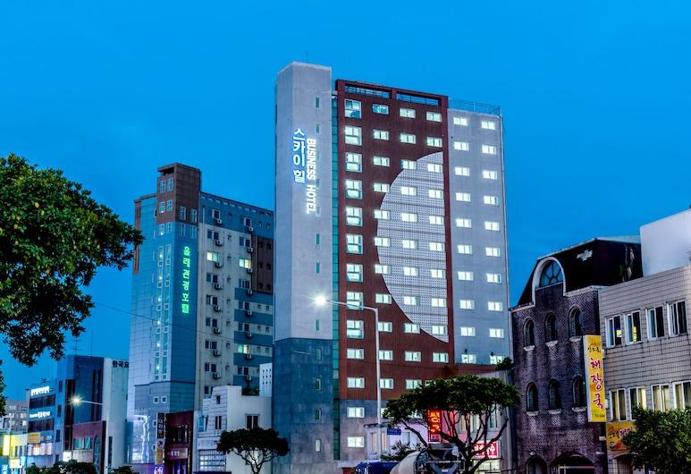 濟州天山商務飯店, Jeju City, 飯店入口 - 夜景