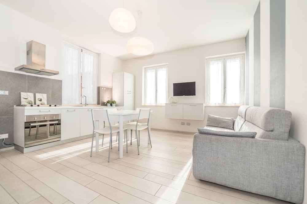 Apartament, 2 sypialnie, widok na dziedziniec - Powierzchnia mieszkalna