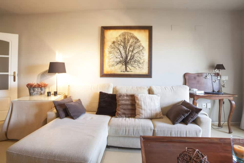 Apartamentai, 3 miegamieji, terasa - Svetainė