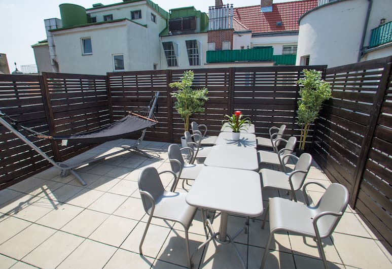 Vienna Hotspot - Wien Mitte, Viena, Liukso klasės apartamentai, 3 miegamieji, terasa (TOP 12), Terasa / vidinis kiemas