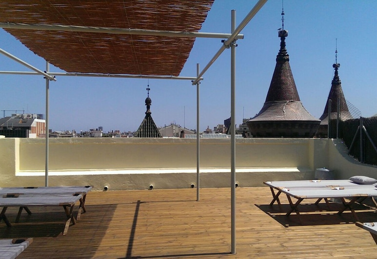 Hostal Argo, Barcelona, Terrasse/veranda