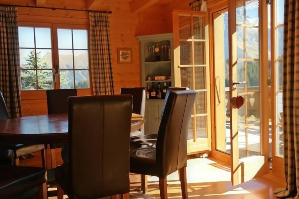 Chalet, 4 camere da letto, terrazzo, vista montagna - Pasti in camera