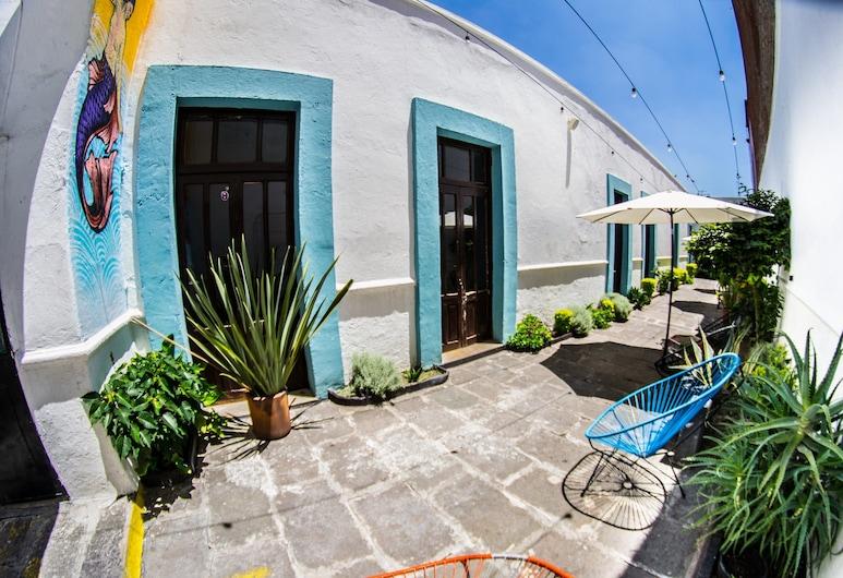 Gente de más Bed & Breakfast, Puebla, Ingang binnen