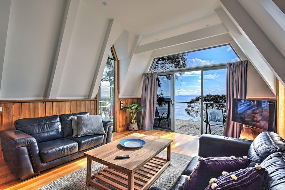 บ้านพักสแตนดาร์ด, 1 ห้องนอน, วิวทะเล, หันหน้าสู่ทะเล - ห้องนั่งเล่น