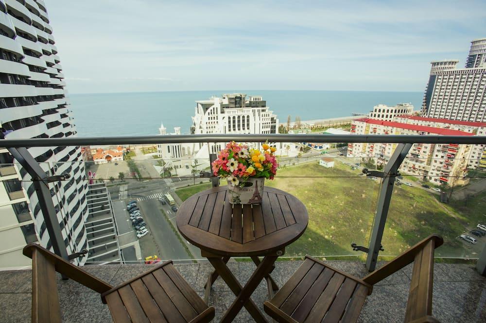 Studija su patogumais, virtuvė, vaizdas į paplūdimį - Balkonas