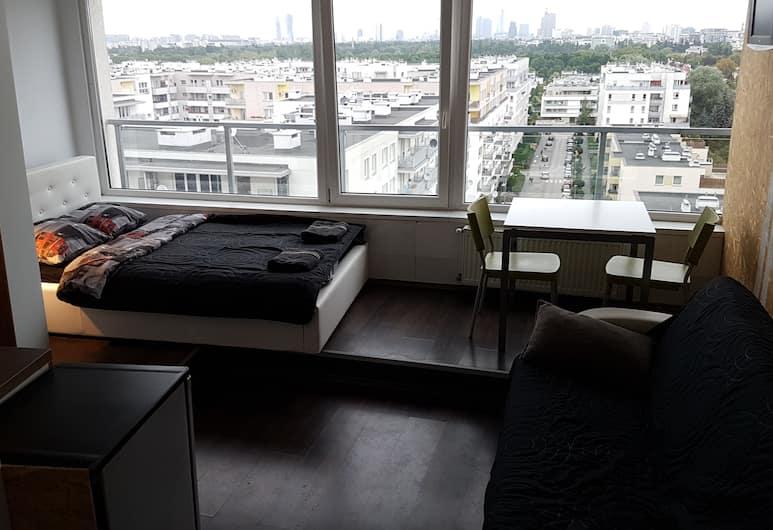Walk distance to mokotow business park, Warszawa, Apartament typu City Studio, Łóżko podwójne i sofa (Wa4), Pokój
