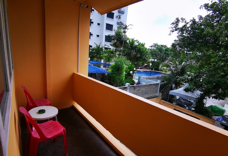 LPM Guesthouse, George Town, Štvorposteľová izba typu Basic, balkón, v blízkosti pláže, Balkón