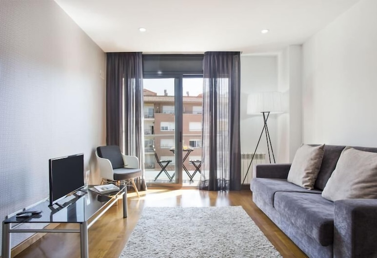 Habitat Apartments Guitart, Barcelone, Appartement, 2 chambres, balcon, Coin séjour