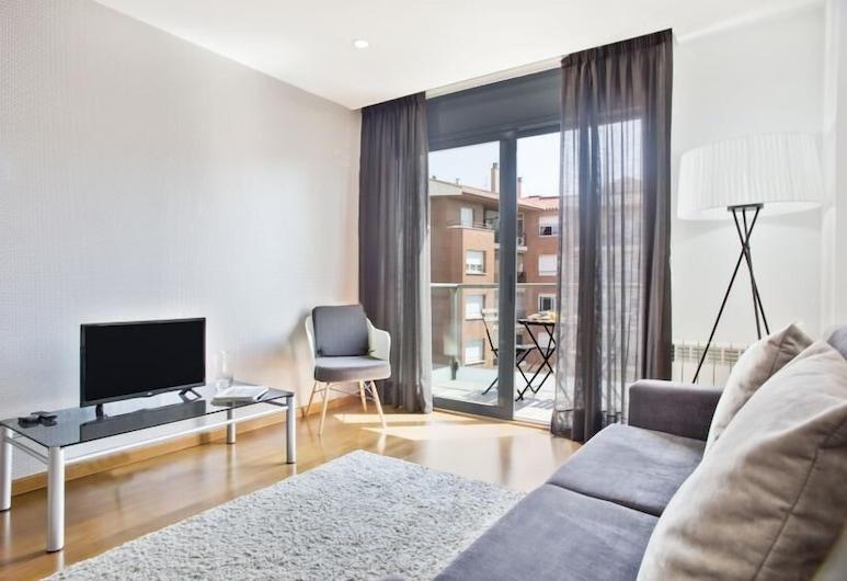 Habitat Apartments Guitart, Barcelona, Apartment, 2 Bedrooms, Balcony, Living Area