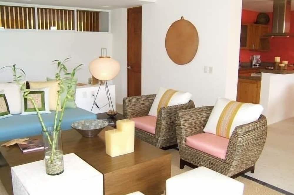 Appart'hôtel Familial, 3 chambres - Coin séjour