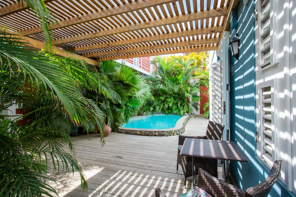 Cozy Cactus ground floor one bedroom apartment, with terrace and shared plunge pool - Terrace/Patio