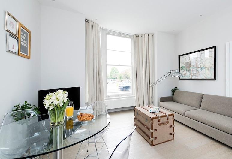 Charming 1BR Flat near Shepherd's Bush, London, Apartment, 1 Schlafzimmer, Wohnzimmer