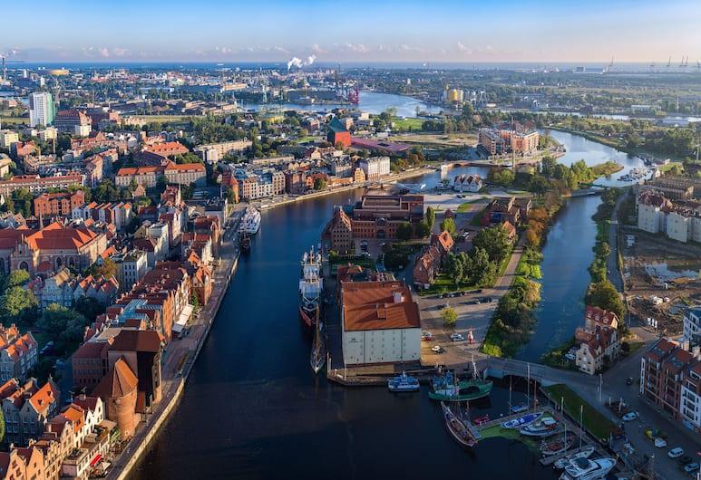 Aparthotel Grodzka 10, Gdansk, Štandardný apartmán, viacero postelí, kuchynka, výhľad na rieku, Výhľad z izby