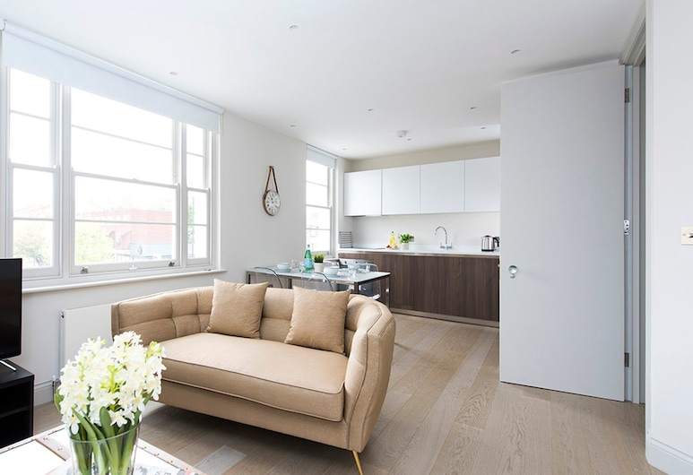 Bright and Modern 1BR flat in West London, London, Apartment, 1 Bedroom, Living Area