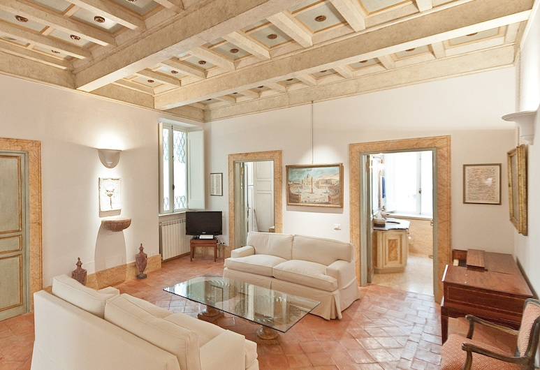 Rental in Rome Banchi Vecchi Terrace, Rome, Apartment, 2 Bedrooms, Living Area