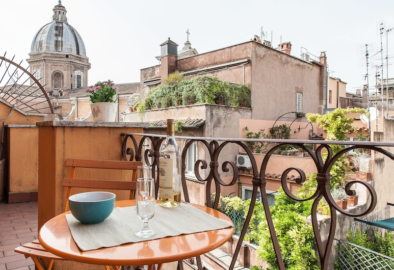 Rental in Rome Campo de Fiori Balcony, Rom, Lejlighed - 3 soveværelser - balkon, Terrasse/patio