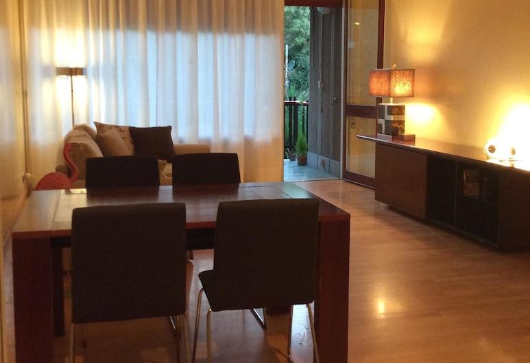 Il fenicottero rosa - Monteverde, Rome, apartman, 1 hálószobával, terasz, kerti, Nappali rész