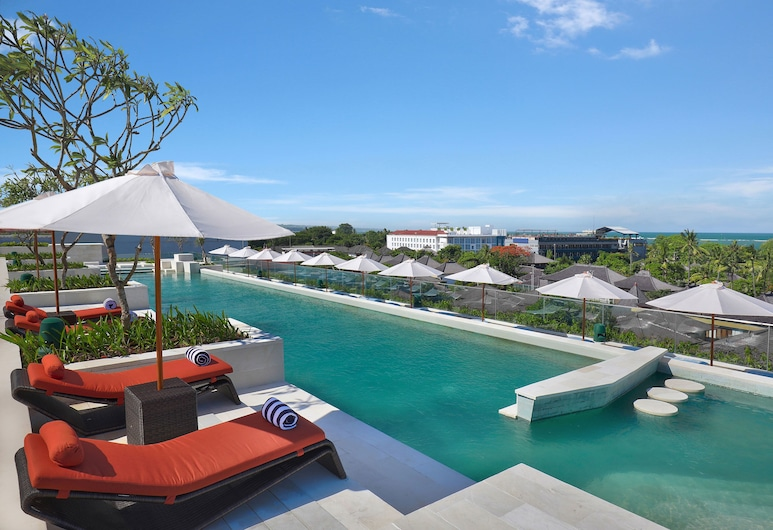 Aryaduta Bali, Kuta, Pool på tagterrassen