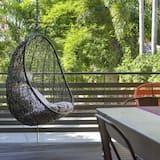 Dizajnový apartmán, 2 spálne, výhľad na rieku (Retro) - Balkón