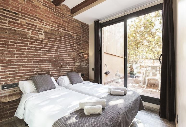 Weflating Sants, Barcelona, Apartmán, 3 spálne, terasa, Výhľad z izby