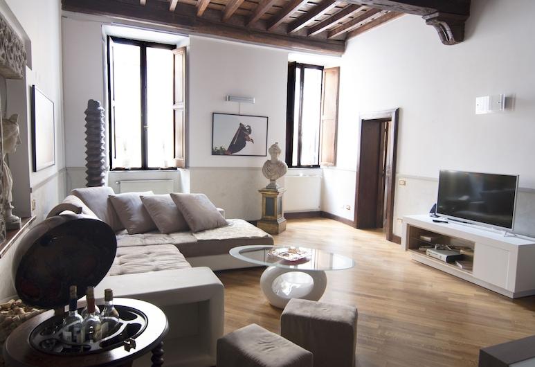 美廬拉納納沃納套房酒店, 羅馬, 公寓, 3 間臥室, 按摩浴缸, 城市景, 客廳