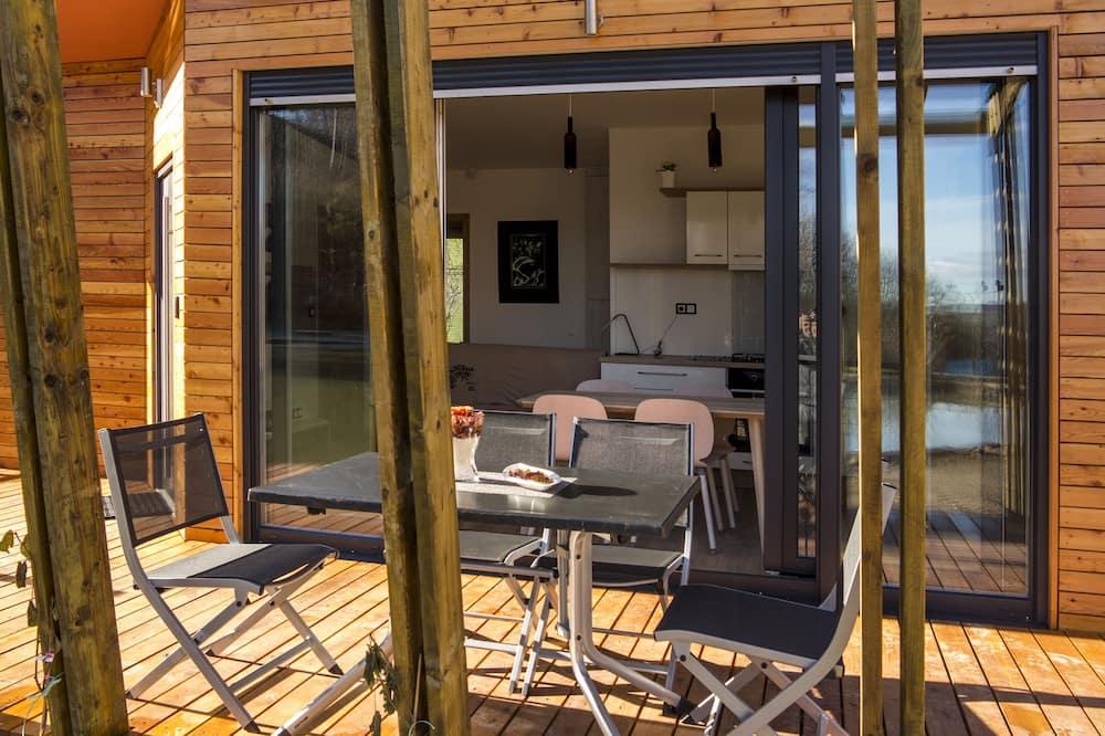 Casa rodante Deluxe, 2 habitaciones, 2 baños, vista al lago - Balcón