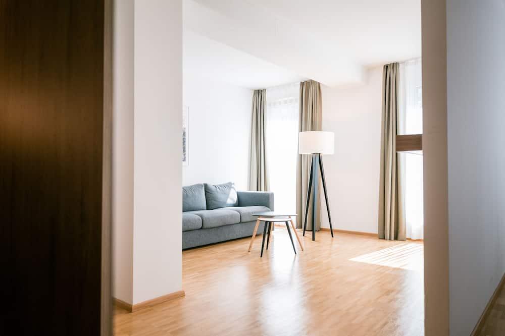 Klassieke vierpersoonskamer, Meerdere bedden - Woonruimte
