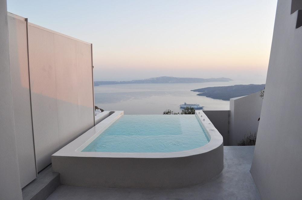 美學精品別墅酒店, 聖托里尼, 別墅, 2 間臥室, 按摩浴缸, 陽台