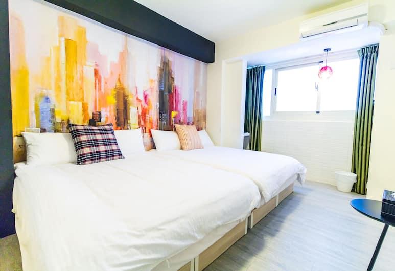 逢甲珍品旅宿, 台中市, 標準四人房, 2 張標準雙人床, 客房
